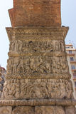 Grekland Thessaloniki, båge av Galerius arkivbilder