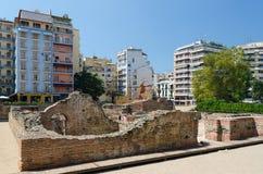 Grekland Thessaloniki Fördärvar av slotten av Roman Emper Royaltyfria Bilder