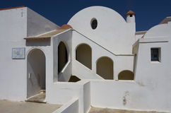 Grekland vitt hus Royaltyfri Bild