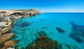 Greko van de kaap, het gebied van ayianapa, Cyprus. Stock Afbeeldingen