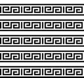 Grektangent Typisk egyptier-, assyrian- och grekbevekelsegrundtextur Vektor och illustration stock illustrationer