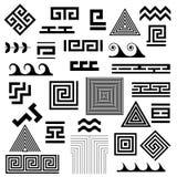 Grektangent Typiska symboler för egyptier-, assyrian- och grekbevekelsegrundvektor vektor illustrationer