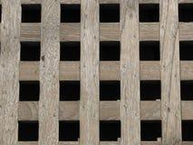 Grelha de madeira resistida Fotografia de Stock Royalty Free