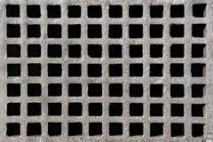 Grelha do dreno do ferro Imagem de Stock