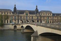 A grelha e o rio de Seine, Paris, France Foto de Stock Royalty Free