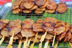 Grelha ou grade do BBQ da carne Fotos de Stock