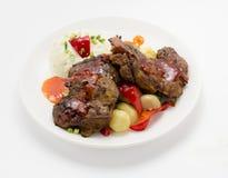 Grelhado, galinha picante do BBQ Imagens de Stock