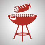 Grelhe o conceito do projeto, do BBQ e do menu, vetor editável Imagem de Stock