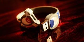 Grelle Scheibe USBs Stockbild