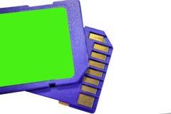Greller Antrieb ein kleines elektronisches Gerät, das Flash-Speicher enthält Stockfoto