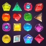 Greller Spiel-Juwel-Satz Lizenzfreie Stockfotos