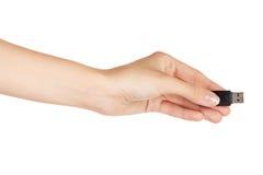 Grelles Laufwerk in der Hand getrennt Stockfoto