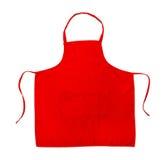Grembiule rosso fotografia stock