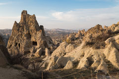 Göreme open air museum with dwellings Royalty Free Stock Images