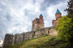 Gremi citadell och kyrka av ärkeänglarna i Kakheti Georgia Arkivbilder