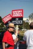 Gremio de escritores de la huelga de América 2008 M Foto de archivo libre de regalías