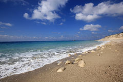 Gremni beach. Lefkada island Royalty Free Stock Photos
