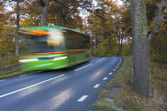 Gren bus in autumn Stock Photo