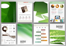 Gren creative backgrounds and abstract concept infographics Royalty Free Stock Images