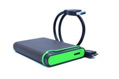 Gren External et petit pain noir de câble image stock