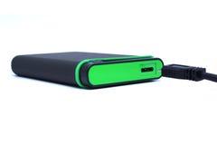 Gren External och svart kabel arkivfoto
