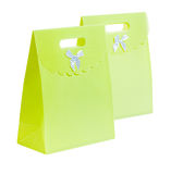 Gren paper bagss Royalty Free Stock Photography