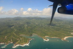 Grenada. Aerial view of Grenada in the Caribbean Sea Royalty Free Stock Photography