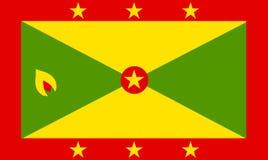 Grenada. National flag of Grenada Royalty Free Stock Images