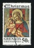 GRENADA - CIRCA 1975: A Christmas post stamp printed in Grenada Stock Photography