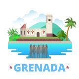 Grenada country design template Flat cartoon style Royalty Free Stock Images