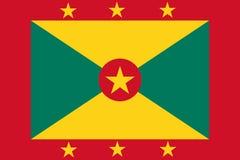 Grenada flag. vector illustration