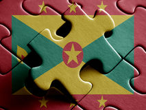 Grenada FLAG PAINTED ON PUZZLE nice Stock Photography