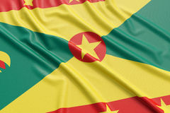 Grenada flagga royaltyfri illustrationer