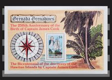 Grenada Grenadines  sheet stamps. Stock Photos