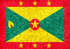 Grenada Grunge Flag Stock Image