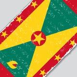 Grenada grunge flag. Vector illustration. Stock Photography