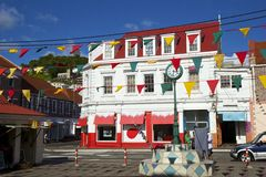 Grenada, Independence Day. Decorated streets of Georgetown  on Independence Day in Grenada, Caribbean Stock Photography