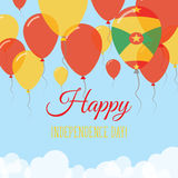 Grenada Independence Day Flat Greeting Card. Royalty Free Stock Photo