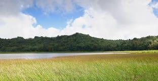 Grenada island - Grand Etang Lake. Grenada island - Grand Etang National Park - Grand Etang Lake royalty free stock images