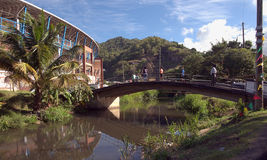 Grenada island - Saint George`s. Antilles - Grenada island - Saint George`s Cricket National Stadium royalty free stock images