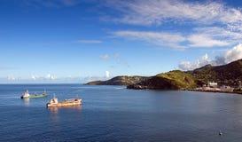 Grenada island - Saint George`s bay. Caribbean sea - Grenada island - Saint George`s bay stock photos
