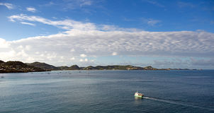 Grenada island - Saint George`s - Sunrise on the inner harbor and Devils bay. Caribbean sea - Grenada island - Saint George`s - Sunrise on the inner harbor and Stock Images