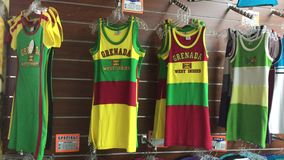 Grenada national colors apparel stock video footage