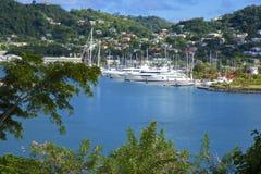 Grenada sikt - St George stad Royaltyfria Foton