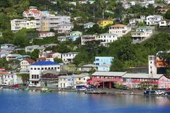 Grenada view - St George town Stock Image
