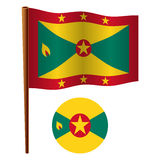 Grenada wavy flag Stock Photos