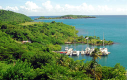 Grenada, West Indies,Caribbean. Secluded cove in Lower Worborn, Grenada, West Indies, Caribbean Stock Images