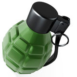Grenade. 3d hand hold grenade for war isolated on white back Stock Photo