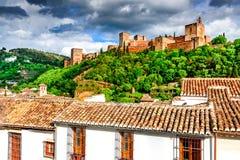 Grenade - Alhambra, Andalousie, Espagne Photographie stock