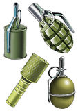 Grenade ammunition case detonator splinter. Explosive cap shock wave royalty free illustration